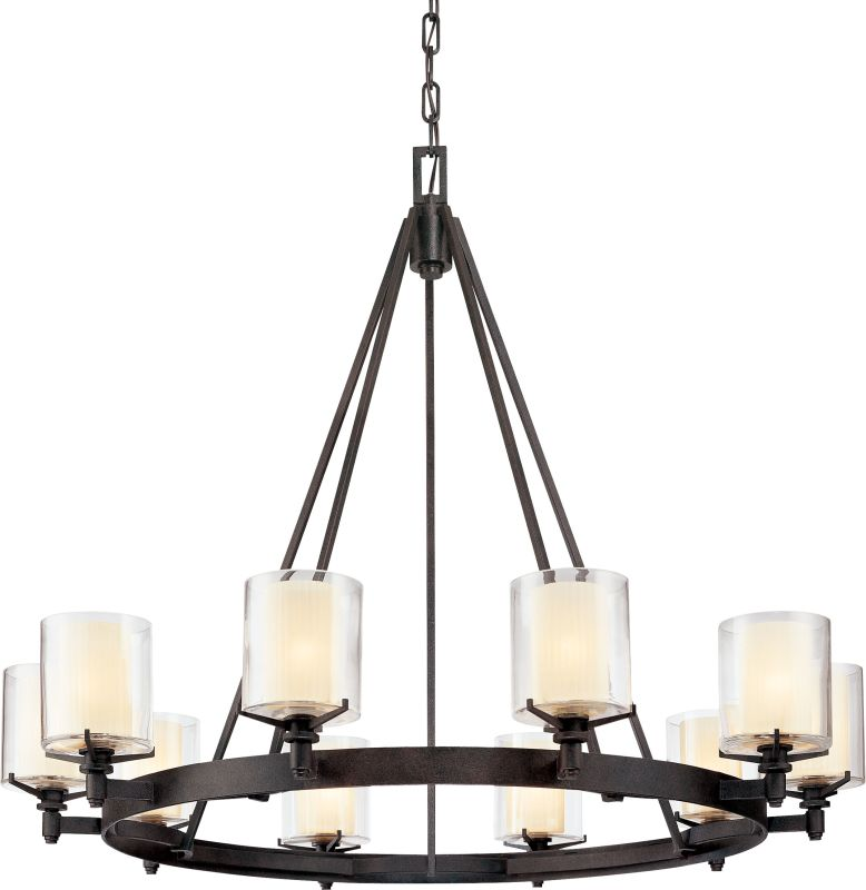 Troy Lighting F1710FR French Iron Contemporary Arcadia Chandelier