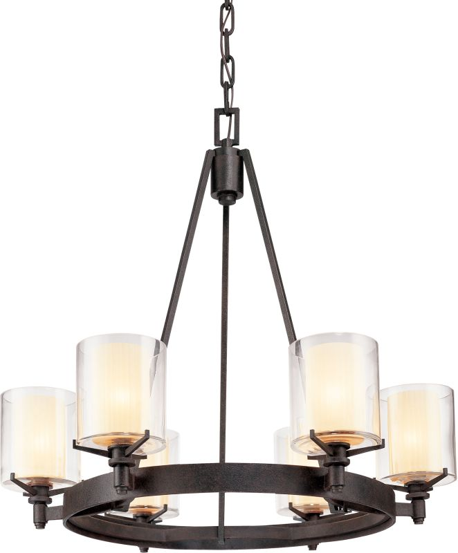 Troy Lighting F1716FR French Iron Contemporary Arcadia Chandelier