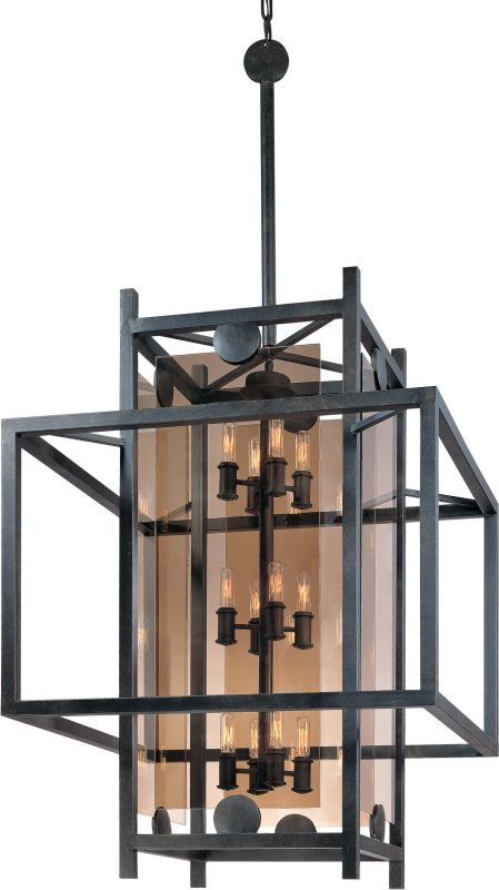 Troy Lighting F2495FI French Iron Contemporary Crosby Chandelier