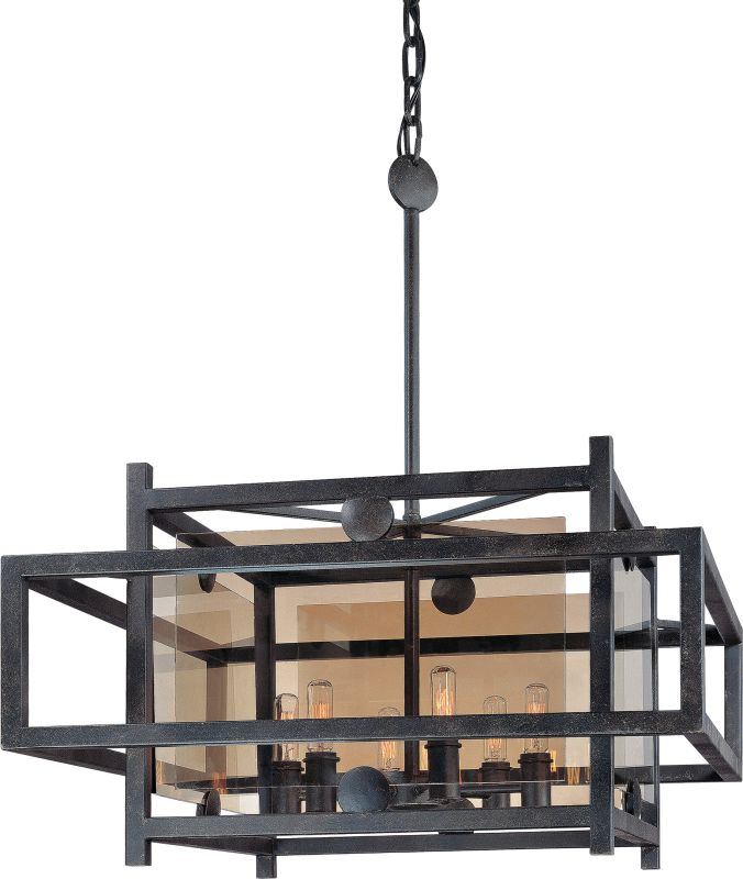 Troy Lighting F2496FI French Iron Contemporary Crosby Chandelier