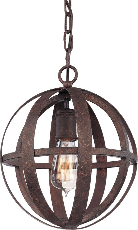 Troy Lighting F2511 Flatiron 1 Light Wrought Iron Pendant Weathered