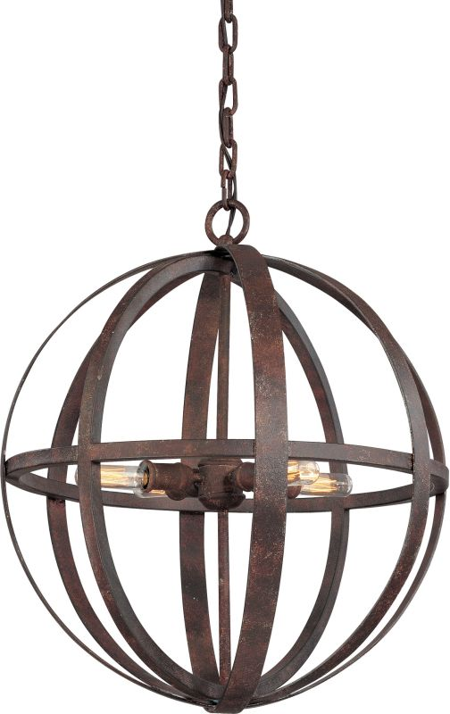 Troy Lighting F2514 Flatiron 4 Light Wrought Iron Pendant Weathered