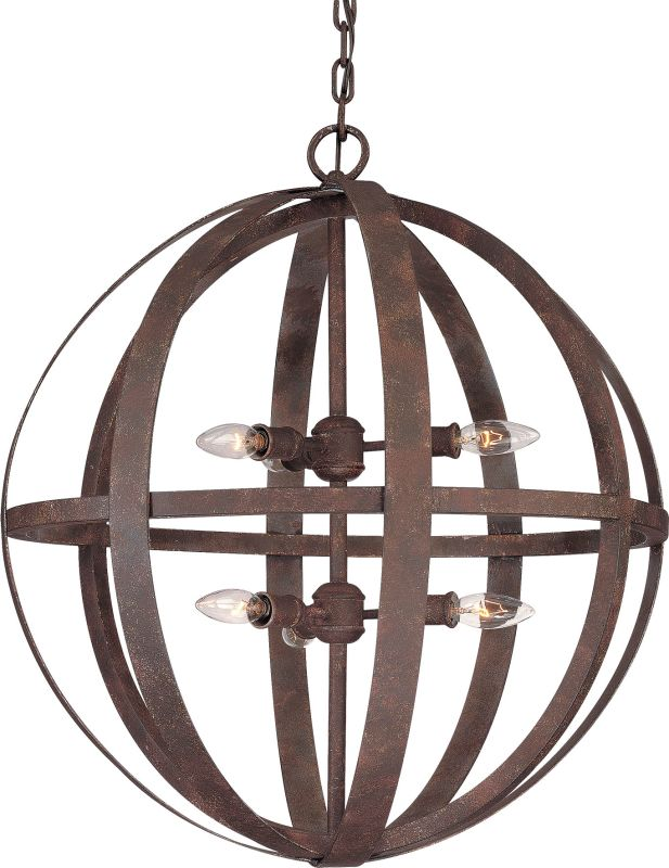Troy Lighting F2516 Flatiron 6 Light 2 Tier Chandelier Weathered Iron