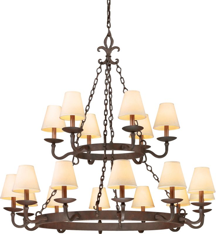 Troy Lighting F2717 Lyon 18 Light 2 Tier Chandelier with Fabric Shades Sale $1540.00 ITEM: bci2065562 ID#:F2717 UPC: 782042792333 :