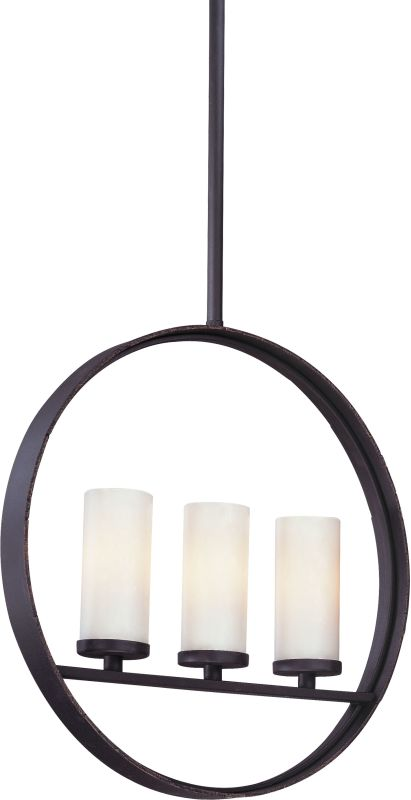 Troy Lighting F2803 Eclipse 3 Light Linear Chandelier with Opal Glass