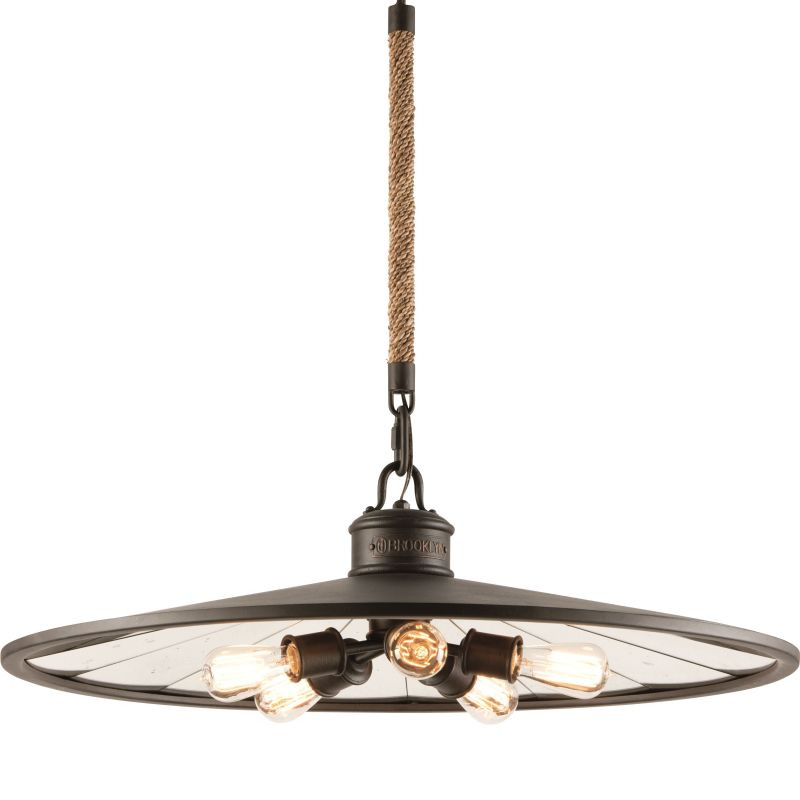 Troy Lighting F3147 Brooklyn Bronze Industrial Brooklyn Pendant
