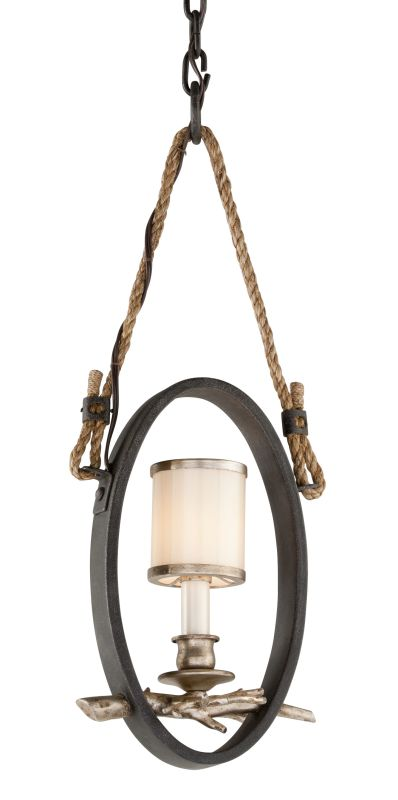 Troy Lighting F3443 Drift 1 Light Pendant with White Pearl Glass Shade
