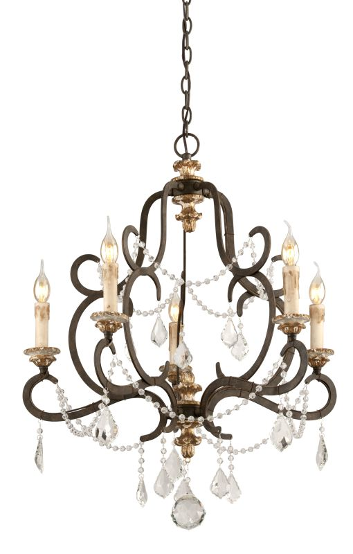 Troy Lighting F3515 Parisian Bronze With Distressed Gold