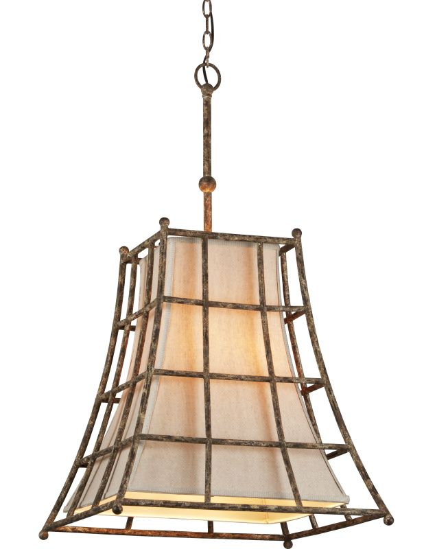Troy Lighting F3785 Left Bank 5 Light Pendant with Linen Shade Coastal Sale $250.77 ITEM: bci2344674 ID#:F3785 UPC: 782042826205 :