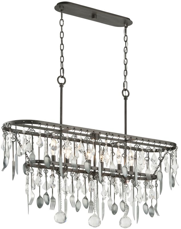 Troy Lighting F3804 Bistro 6 Light Kitchen Island Fixture with Crystal Sale $2190.00 ITEM: bci2433187 ID#:F3804 UPC: 782042844902 :