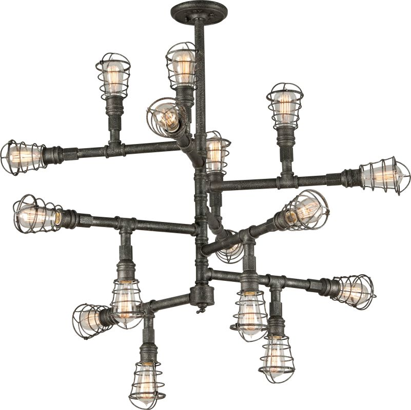 Troy Lighting F3818 Old Silver Industrial Conduit Chandelier Sale $1698.00 ITEM: bci2344682 ID#:F3818 UPC: 782042826373 :