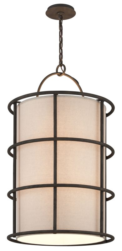 Troy Lighting F3918 Haven 8 Light Pendant with Fabric Shade Liberty