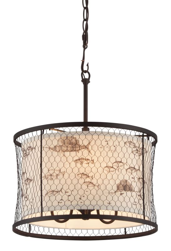 Troy Lighting F4024 Catch N Release 3 Light Pendant with Fabric Shade Sale $166.16 ITEM: bci2433172 ID#:F4024 UPC: 782042845312 :