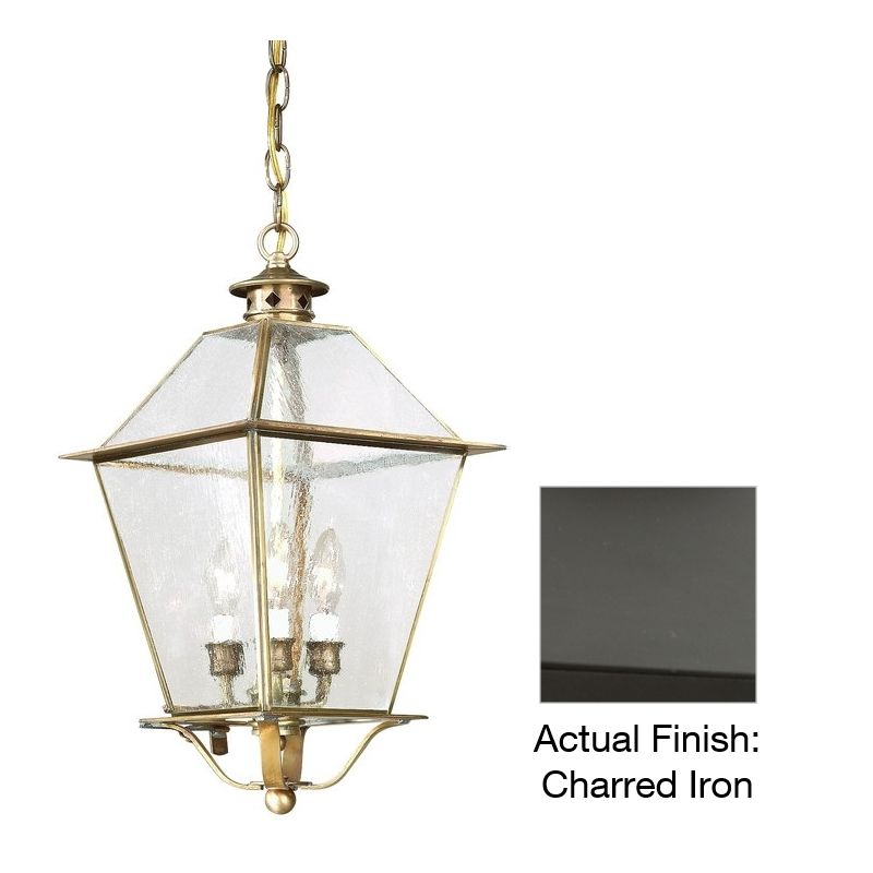 "Troy Lighting F8959 Montgomery 4 Light 25"" Outdoor Lantern Pendant"