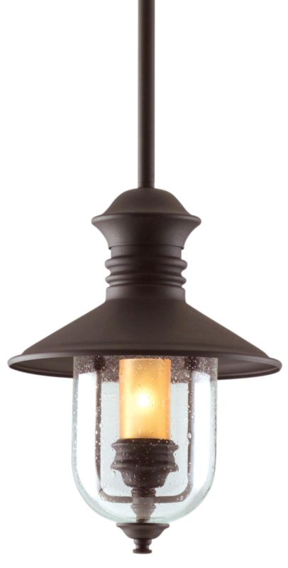 "Troy Lighting F9362 Old Town 1 Light 13"" Outdoor Lantern Pendant with"
