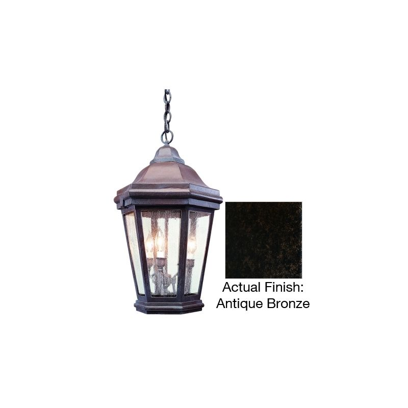 "Troy Lighting FCD6895 Verona 3 Light Outdoor Lantern Pendant Antique Sale $808.00 ITEM: bci1598585 ID#:FCD6895ABZ UPC: 782042985452 Features: Durable aluminum material Bulb included: No Rated for wet locations Dimensions: Height: 26"" Width: 16"" Maximum Hanging Height: 74"" Chain / Downrod Length: 48"" Electrical Specifications: Number of Bulbs: 3 Bulb Base: Candelabra (E12) Watts per Bulb: 60 Total Wattage: 180 Voltage: 120 About Troy Lighting: Being a Leader in an Industry requires many attributes. Our passion for quality, design, value and service lead the way. We strive to produce Interior and Exterior Lighting products that are unique in the marketplace and affordable to consumers. We use Hand-Forged Iron and Hand-Applied Finishes as the primary ingredients of our timeless pieces. We take great pride in our engineering and inspection standards to ensure that you receive a quality product that lasts for many years. :"