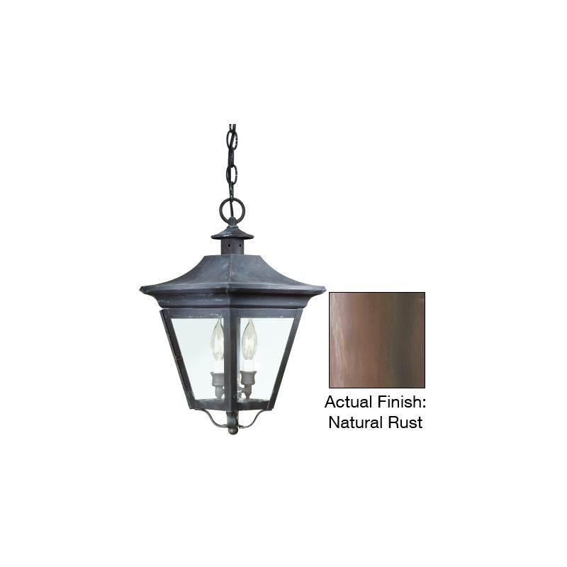 "Troy Lighting FCD8932 Oxford 2 Light 18"" Outdoor Lantern Pendant with"