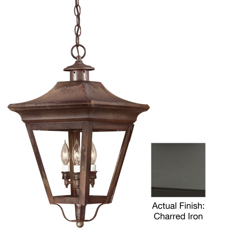"Troy Lighting FCD8935 Oxford 3 Light 24"" Outdoor Lantern Pendant with"