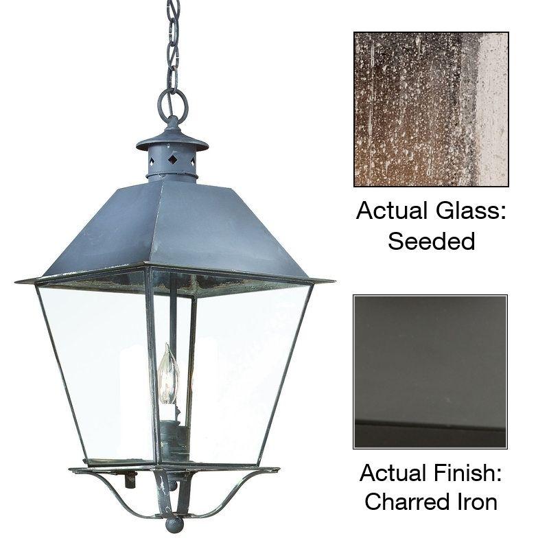 Troy Lighting F9133 Montgomery 1 Light Outdoor Lantern Pendant Charred