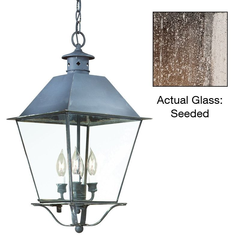 "Troy Lighting F9136 Montgomery 3 Light Outdoor Lantern Pendant Charred Sale $728.00 ITEM: bci1597755 ID#:FCD9136CI UPC: 782042522749 Features: Durable brass material Bulb included: No Rated for wet locations Dimensions: Height: 20.75"" Width: 10.25"" Maximum Hanging Height: 68.75"" Chain / Downrod Length: 48"" Electrical Specifications: Number of Bulbs: 3 Bulb Base: Candelabra (E12) Watts per Bulb: 60 Total Wattage: 180 Voltage: 120 About Troy Lighting: Being a Leader in an Industry requires many attributes. Our passion for quality, design, value and service lead the way. We strive to produce Interior and Exterior Lighting products that are unique in the marketplace and affordable to consumers. We use Hand-Forged Iron and Hand-Applied Finishes as the primary ingredients of our timeless pieces. We take great pride in our engineering and inspection standards to ensure that you receive a quality product that lasts for many years. :"