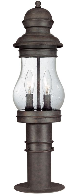Troy Lighting P1885 Hyannis Port 2 Light Post Light with Seedy Glass