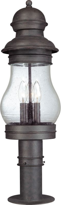 Troy Lighting P1886 Hyannis Port 3 Light Post Light with Seedy Glass