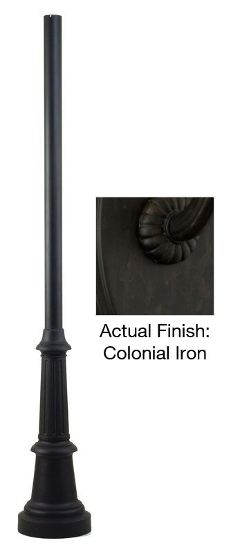 "Troy Lighting P8683-84 84"" x 3"" Smooth Extruded Aluminum Post Colonial"