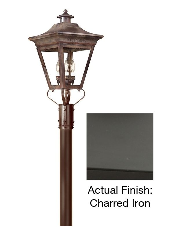 "Troy Lighting P8934 Oxford 3 Light 29"" Post Light with Clear Glass"