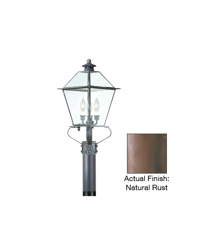 Troy Lighting PCD8955 Montgomery 3 Light Post Light with Seedy Glass