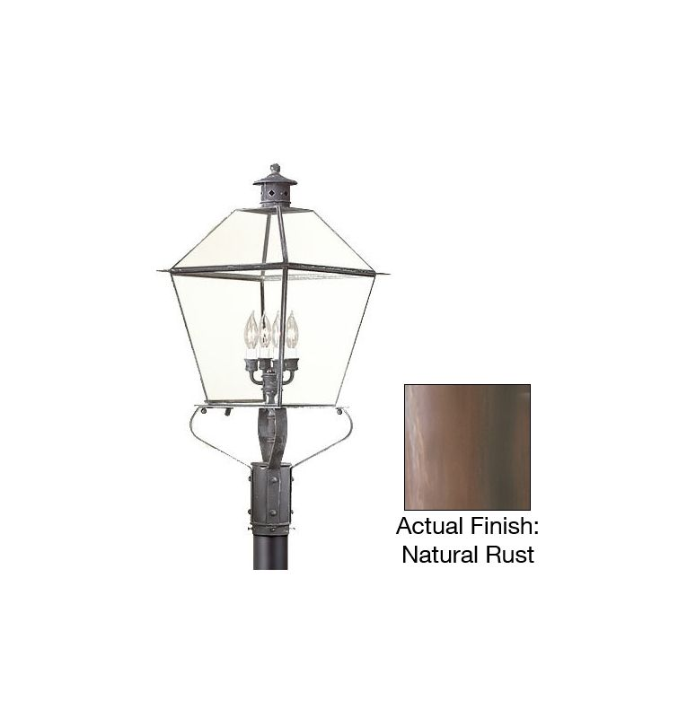 "Troy Lighting P9141 Montgomery 4 Light 32"" Post Light with Glass Shade"
