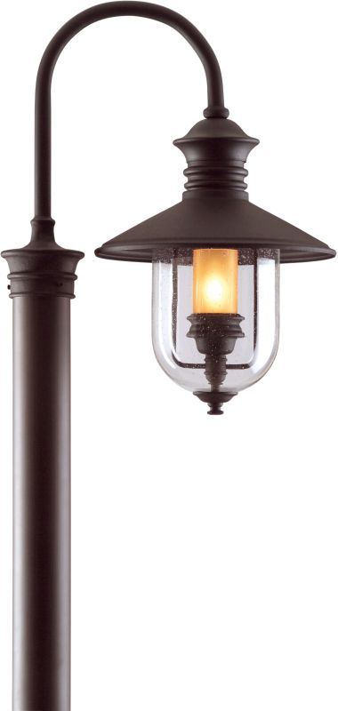 Troy Lighting P9364 Old Town 1 Light Post Light with Seedy Glass
