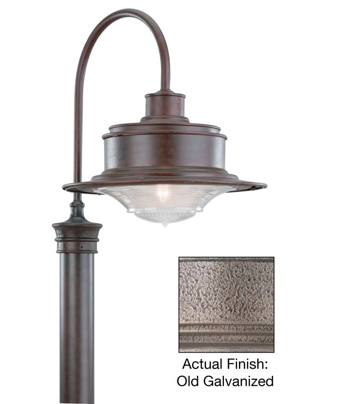 Troy Lighting P9394OG Galvanized Industrial South Street Post Light