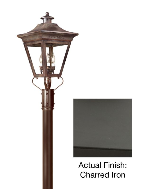 "Troy Lighting PCD8934 Oxford 3 Light 29"" Post Light with Seedy Glass"