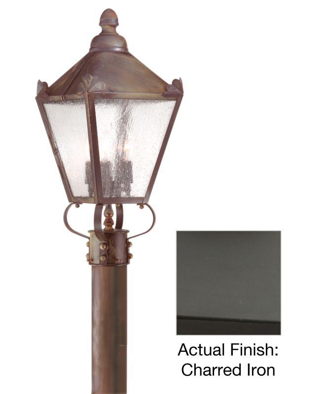 Troy Lighting PCD8944 Preston 3 Light Post Light with Seedy Glass