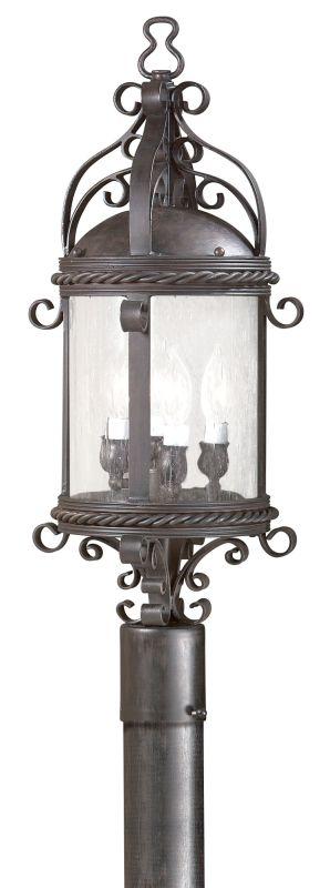 Troy Lighting PCD9123 Pamplona 4 Light Post Light with Seedy Glass Old