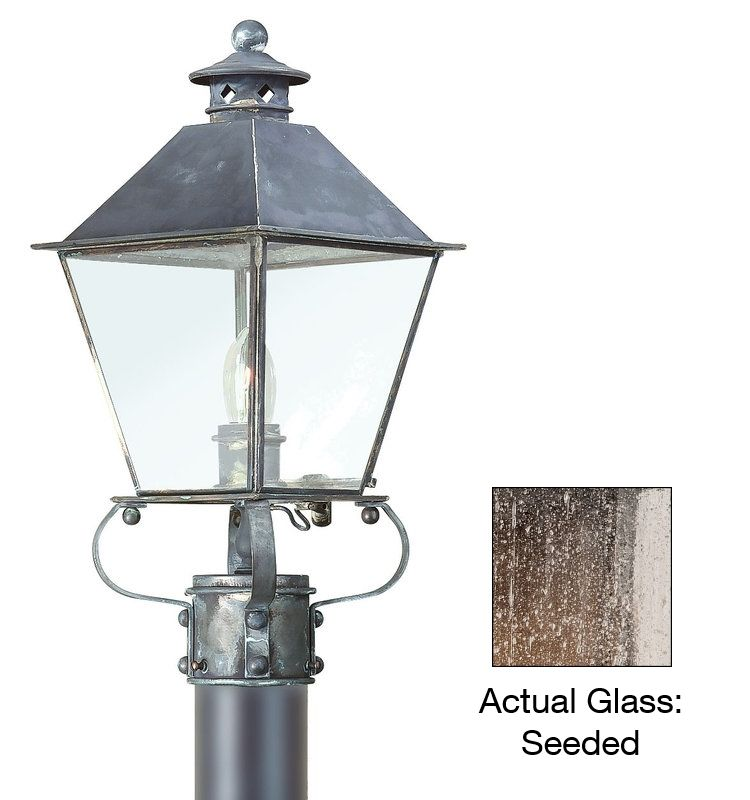 Troy Lighting PCD9132 Montgomery 1 Light Post Light with Seedy Glass