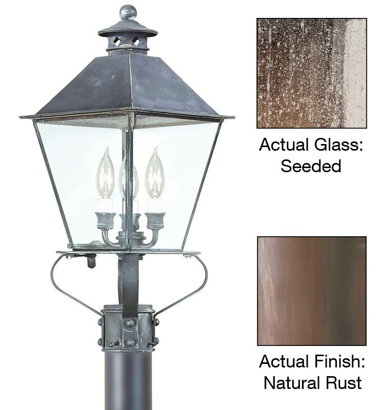 Troy Lighting P9135 Montgomery 3 Light Post Light with Glass Shade