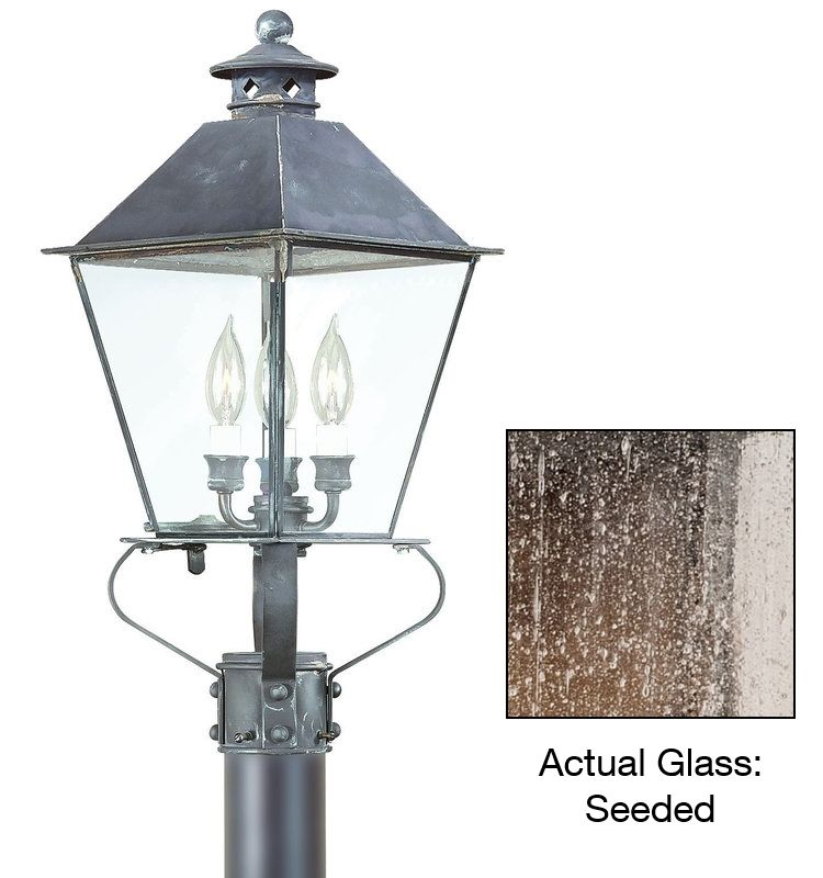 "Troy Lighting P9138 Montgomery 4 Light 26"" Post Light with Glass Shade"