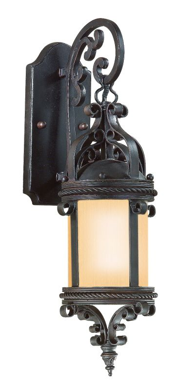"Troy Lighting BF9121 Pamplona 1 Light 19"" CFL Outdoor Wall Sconce Old"