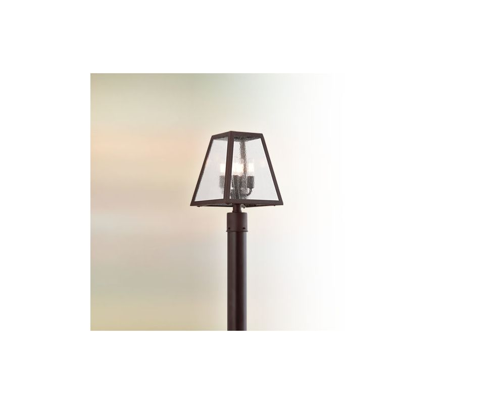Troy Lighting P3435 Amherst 4 Light Post Light with Glass Shade River Sale $528.00 ITEM: bci2065659 ID#:P3435 UPC: 782042796119 :