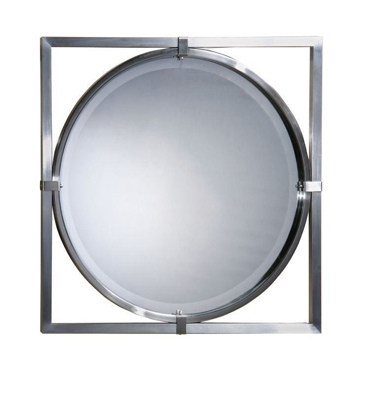Uttermost 01053 B Kagami Beveled Mirror Brushed Nickel Home Decor