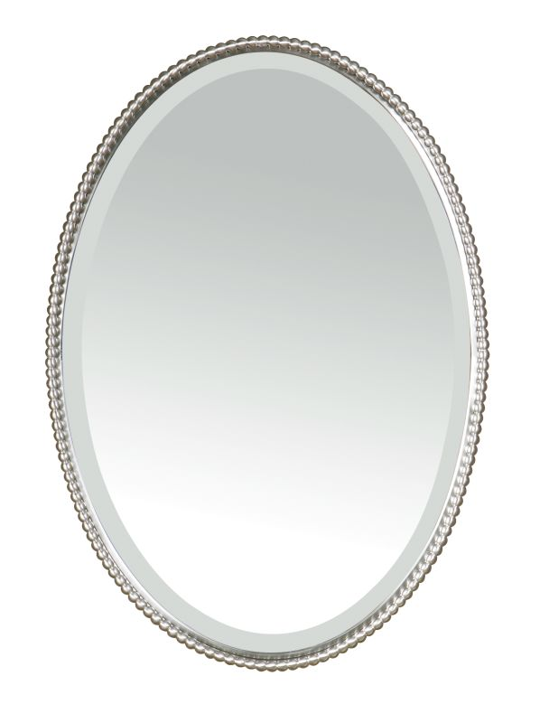 Uttermost 01102 B Sherise Oval Beveled Mirror With Beaded Frame Sale $283.80 ITEM: bci821355 ID#:01102 B UPC: 792977011027 :