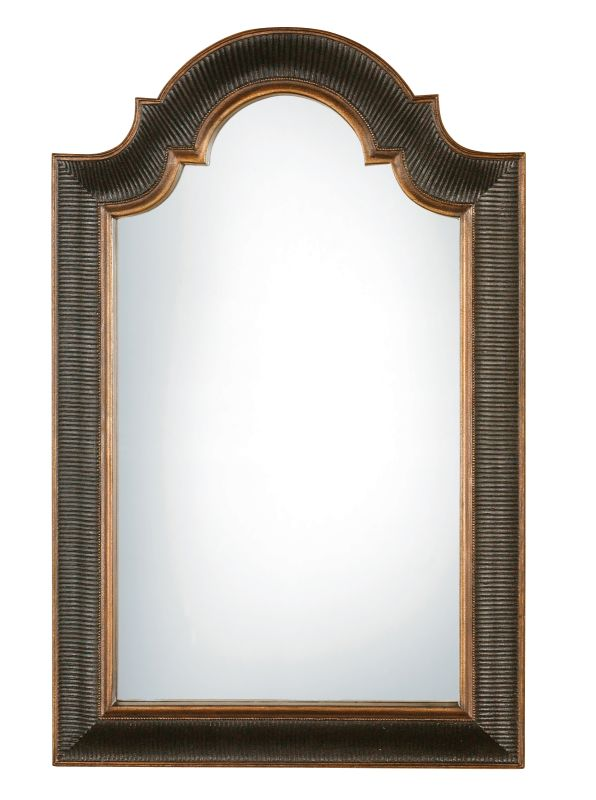 Uttermost 01760 P Arched Top Wall Mirror Antique Black With Gold