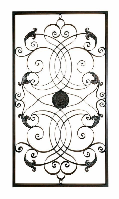 Uttermost 7527 Effie Distressed Hand Forged Metal Wall Art Aged Black