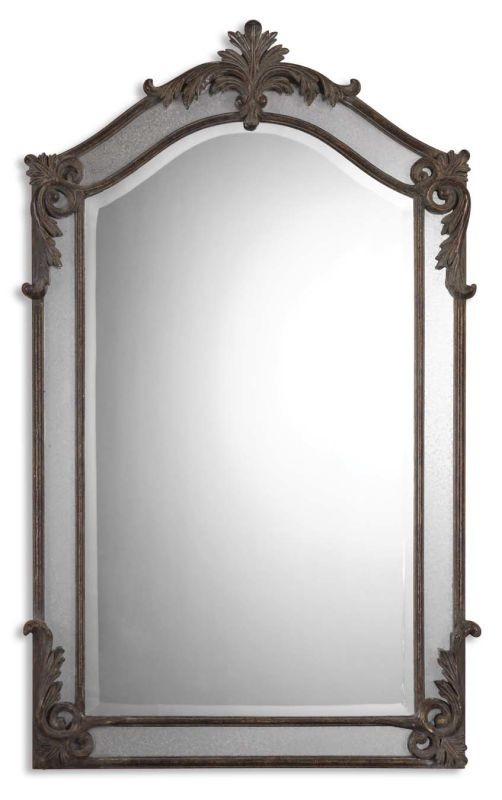Uttermost 08045 B Alvita Beveled Mirror with Antiqued Metal and Mirror