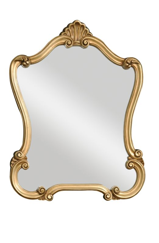 Uttermost 08340 P Walton Hall Mirror Distressed Gold Home Decor