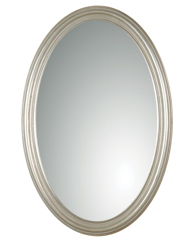Uttermost 08601 P Franklin Oval Mirror Silver With Gray Glaze Home