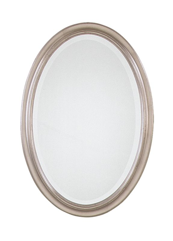Uttermost 08646 B Petite Manhattan Oval Beveled Mirror Champagne