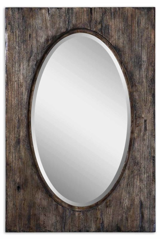 Uttermost 9503 Hitchcock Mirror Natural Wood Home Decor Lighting