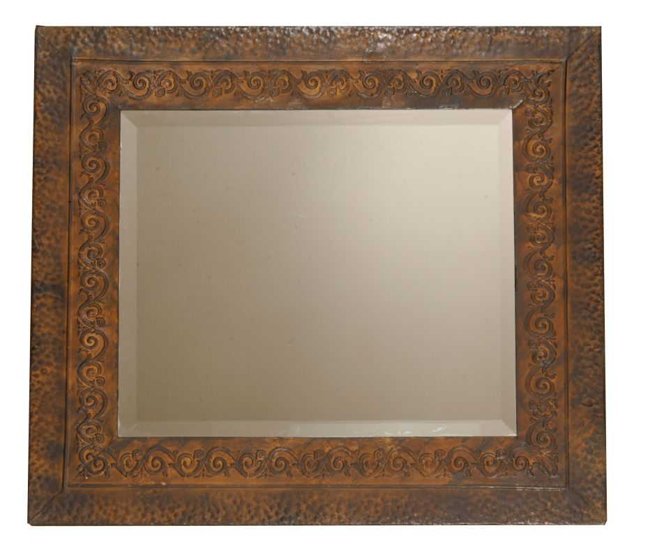 Uttermost 11182 B Jackson Rustic Metal Mirror Brown Finish With Rust